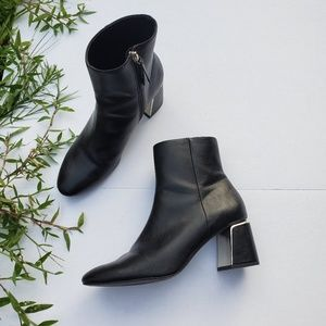 Zara Size 9 Ankle Block Heel Boots